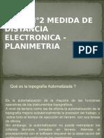 TEMA N°2 MEDIDA ELECTRONICA DE DISTANCIAS - PLANIMETRIA