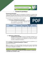 Evidencia, Estructuración Del Proyecto (1)