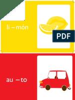 Set de Fichas de lenguaje