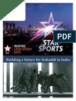 Kabaddi Case Study_StarInsipire2015
