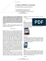 Survey Paper (Mobile Learning)