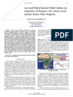 Effects of Sawdust and Palm Kernel Shell Ashes on Geotechnical Properties of Emure / Ise-orun Local Government Areas Soil, Nigeria