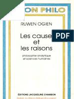 Ruwen Ogien Les Causes Et Les Raisons