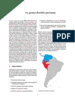 Guerra Grancolombo Peruana