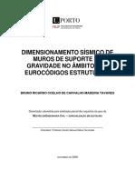 DIMENSIONAMENTO SÍSMICO DE MUROS DE SUPORTE DE GRAVIDADE NO AMBITO DOS EUROCODIGOS ESTRUTURAIS.pdf