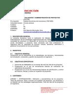 Evaluación y Administración de Proyectos - 2015-2