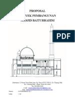 PROPOSAL Pembangunan Masjid Baiturrahim 2013