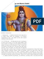 Eightfold Yoga and Mantra Siddhi