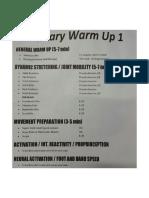 Warm Ups Protocol
