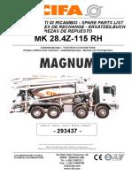 Cifa MK28.4Z - 115 RH Parts Catalog