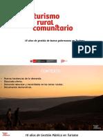 Turismo Rural Comunitario en el Perú. Resultados y perspectivas de la Estrategia. Por Leoncio Santos