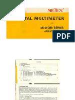 Metex M3600 B Series Operating Manual