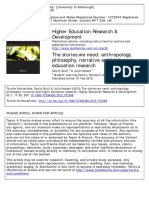 Narrative and Higher Education Research Scutt and Hobson