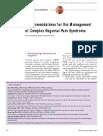 Mpnp Recommendations Complex Regional Pain Syndrome Crps Aug 2005