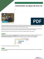 Identificando e resolvendo os tipos de erros no Excel