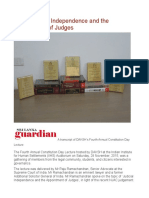 India Judicial Independence and the Appointment of Judges