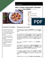 4. Ensalada de Tomate y Yogur Especiado (Tamatar Ka Salad)