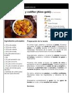 6. Guiso de Patata y Coliflor (Aloo Gobi)