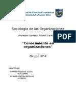 Conocimiento en Las Organizaciones
