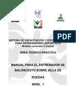 Manual Para Entrenadores de Baloncesto en Silla de Ruedas