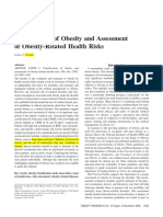 Classification of Obesity and Assessment