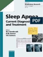 Sleep Apnea - Current Diagnosis and Treatment - W. Randerath, Et Al., (Karger, 2006) WW