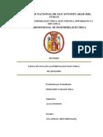 Informe de Alta Tension de La Visita Tecnica a Qenqoro de Fernando Lozano Inca