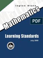 WA Math Standards Grades K-8