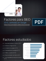 Factores Google SEO