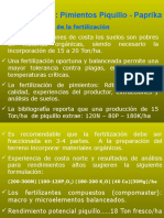 Fertilizacion en Pimiento Piquillo y Paprika