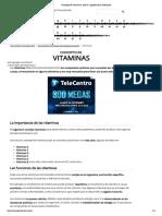 Concepto de Vitaminas