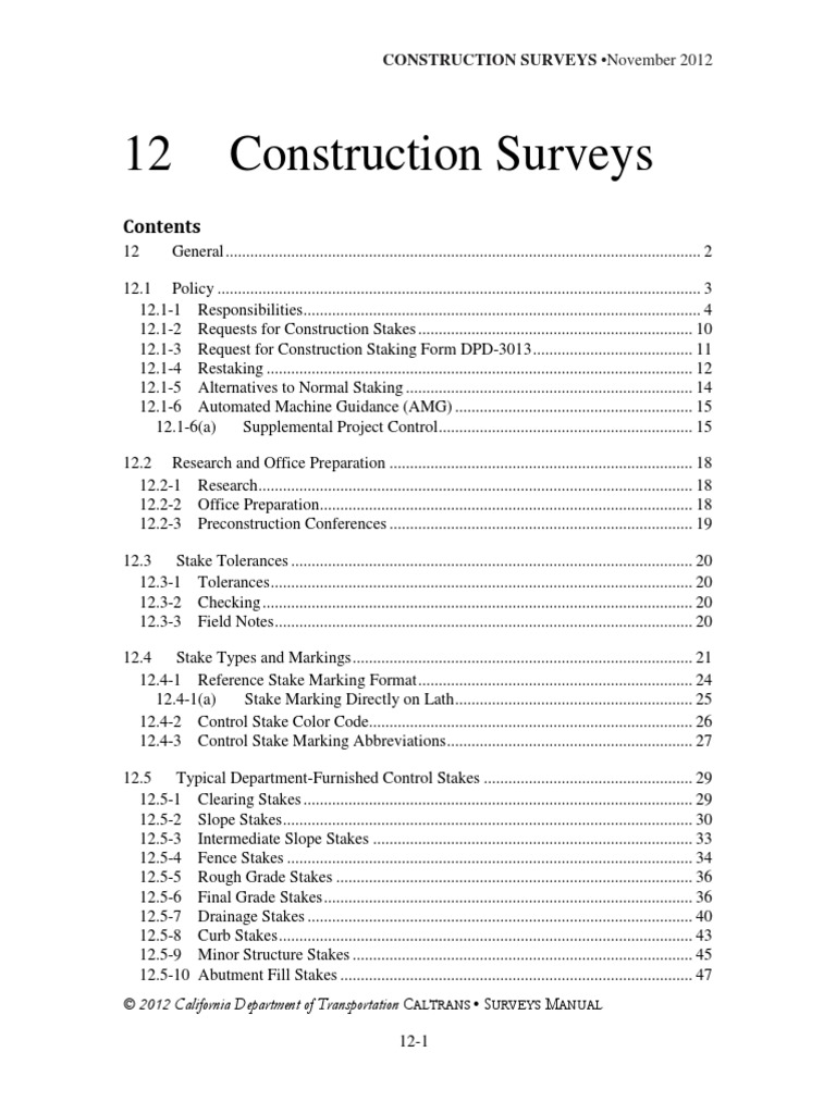 12surveyspdf Surveying General Contractor