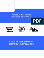 Manual administración operación y mantenimiento de sistemas de agua