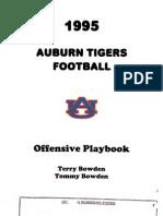 1995 Auburn Offensive Playbook (Bowden)