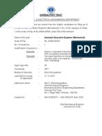 Chennai port Executive engineer application