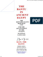 TheThe Bantu in Ancient Egypt