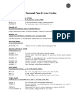 Croda Persona Care Product Index