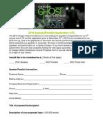 2016 OGC Speaker-Panelist Application Form