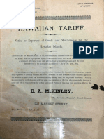 1885 Hawaiian Tariff