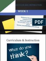 edu555 curriculum and instruction week 1  1