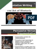 argumentative writing model