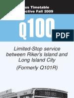Q100 bus schedule