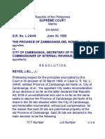Province of Zamboanga Del Norte v City of Zamboanga (1) 54357