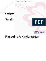 Topic 7 Managing a Kindergarten - Space and Equipment