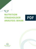 Bihar Nutrition Stakeholder Analysis
