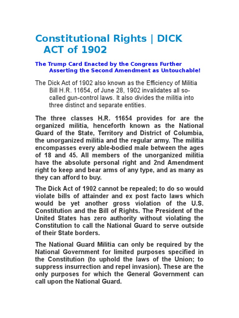 act law dick The
