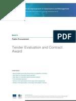 Public Procurement Tender Evaluation 2011