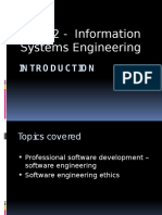 Topic 1 - Introduction to Information Systems Engineering
