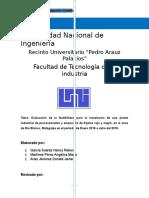 Instalacion de Planta Empacadora de Frijol_metodología_3M3_IND