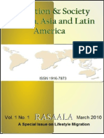 Recreation and Society in Africa, Asia and Latin America (Rasaala) Vol.1 NO.1 (A journal of Spread Corporation)